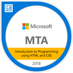 MTA Introduction to Programming Using HTML andn CSS 2018