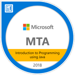 MTA Introduction to Programming Using Java Certified 2018