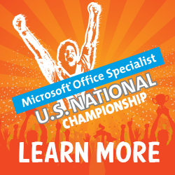 Click here for the Certiport Micorsoft Office Specialist US National Championship site
