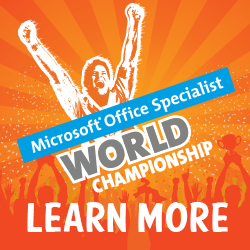 Click Here for the Certiport Microsoft Office Specialist World Championship site.